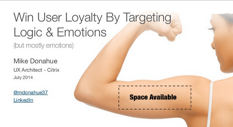 Design UX that touches the emotions to win their loyalty
