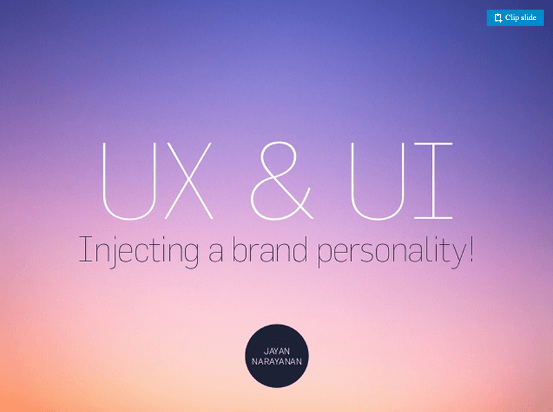 ux and ui injecying brand ersonality