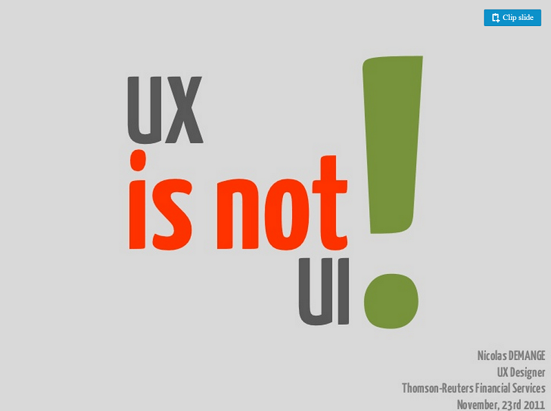 Of course, there is a whole lot of difference between UX and UI