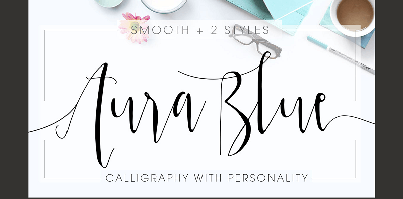 Smooth calligraphy typeface from MyCandyThemes