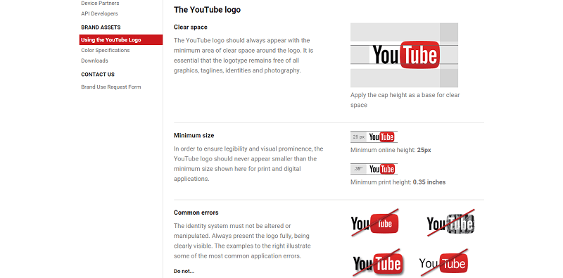 Use the YouTube logo, icon, assets, or icon pack by checking out its guidelines