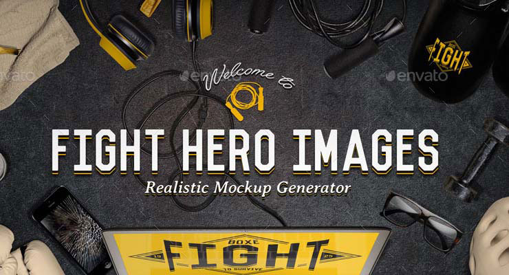Fight Sport Hero Image Generator