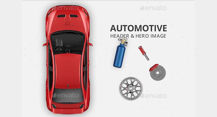 Automotive Hero Image and Header Mockup