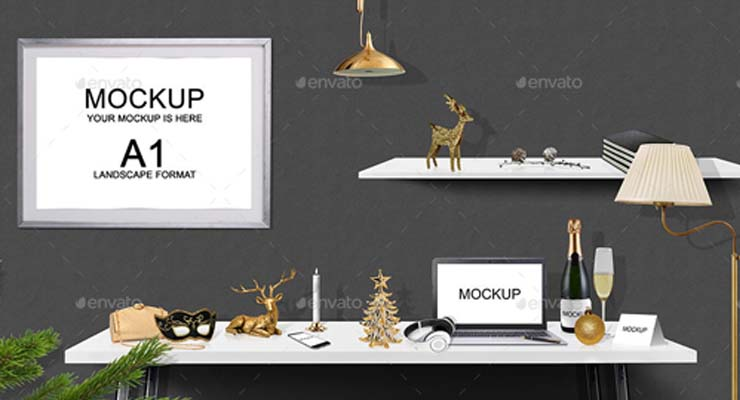 Christmas Desk Hero Image Scene Generators
