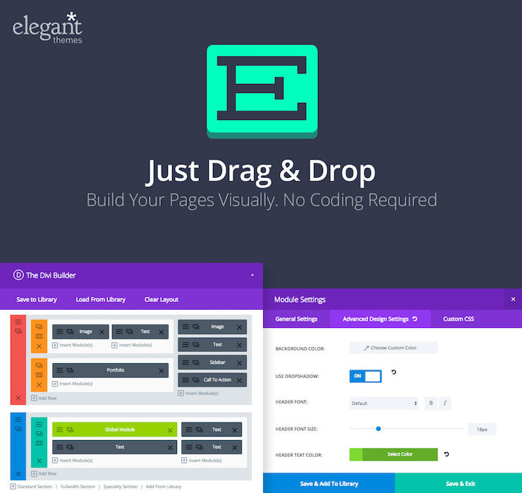 Just Drag & Drop to build your pages vis actuallyually