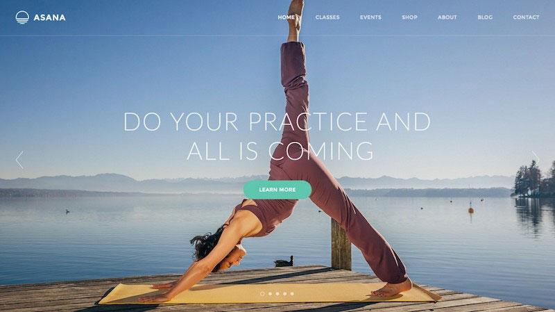 Asana - Sport and Yoga PSD Template