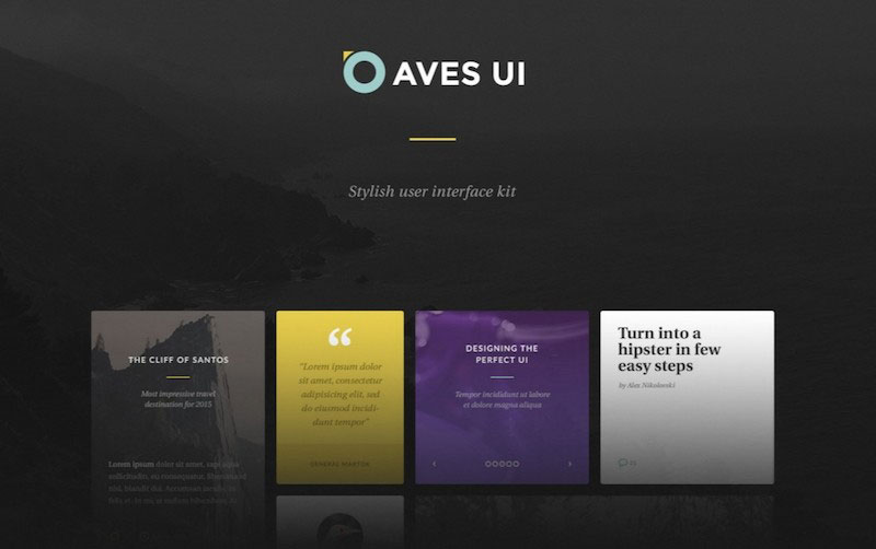 Aves - Stylish User Interface Kit