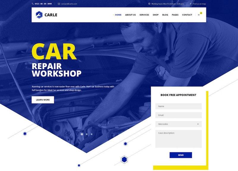Carle - Car Service and Shop PSD Template