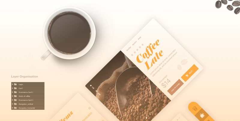 Coffee User Interface PSD Kit
