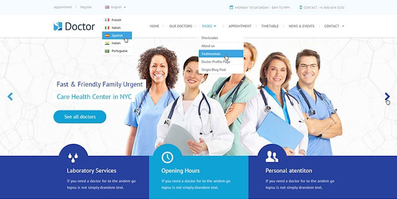 Doctor Health Clinical PSD Template