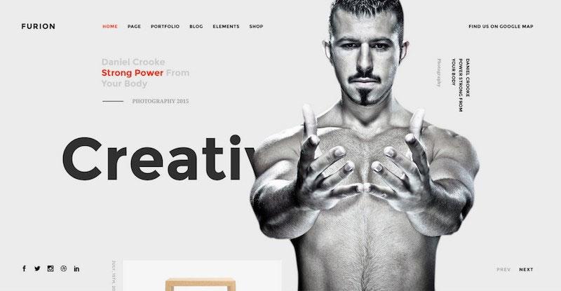 Furion - Creative PSD Template