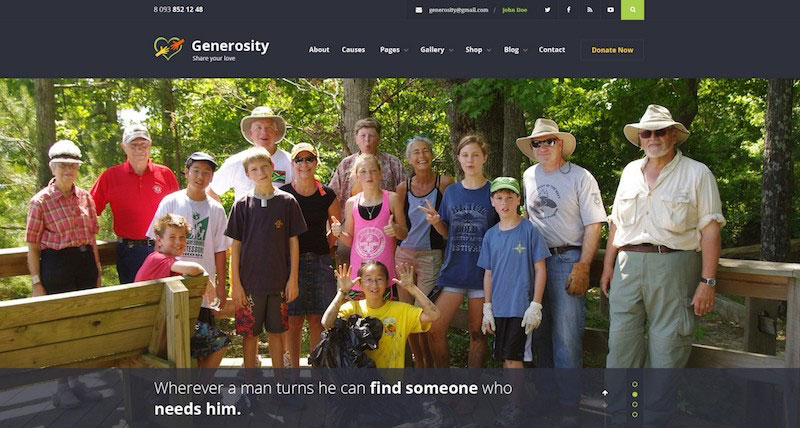 Generosity - Charity / Nonprofit PSD Template