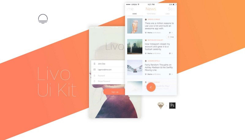 Livo - Mobile User Interface Kit