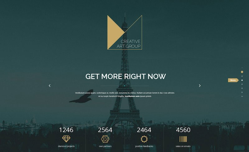 Monaco - Creative Bootstrap 3 PSD Template