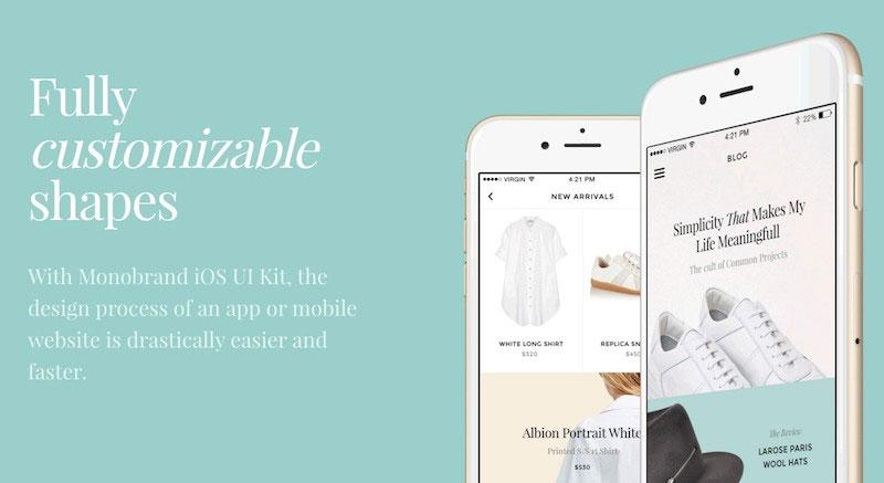 Monobrand iOS UI Kit