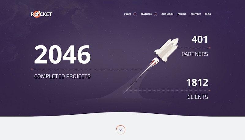 Rocket - Creative Multipurpose PSD Template