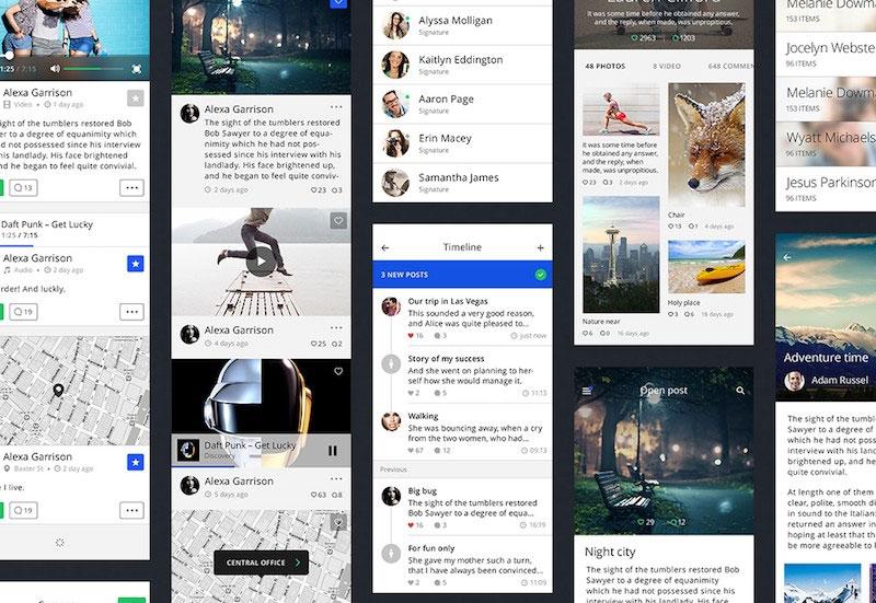 TETHR – iOS Design Kit