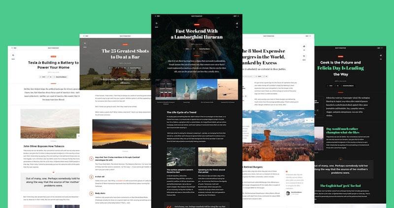 Snug – Clean Blog, Magazine UI Kit