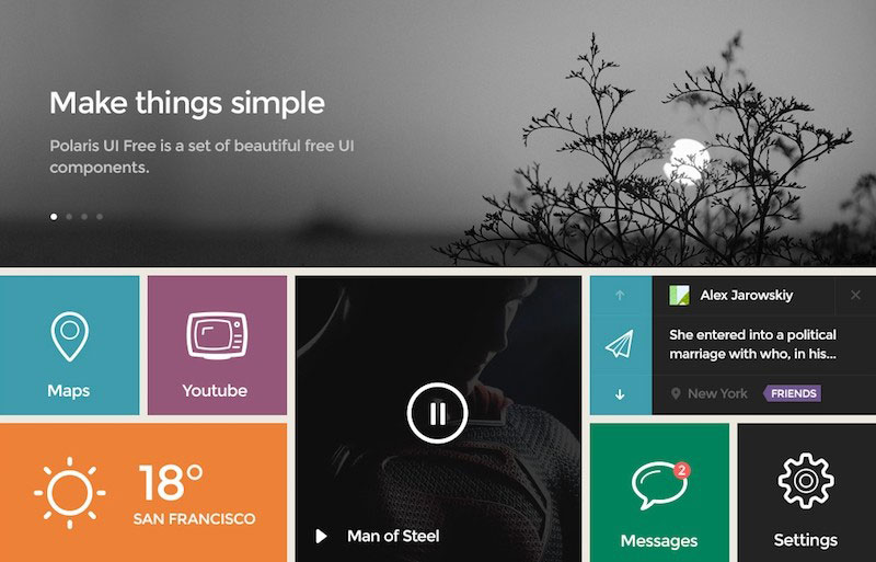 Square Flat Design UI Kit
