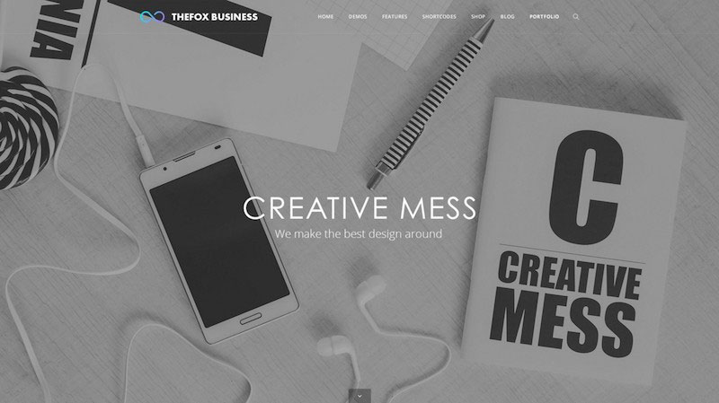 TheFox Business PSD Template