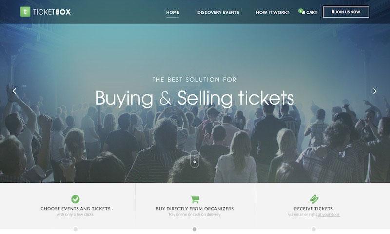 TicketBox - Event Tickets Management PSD