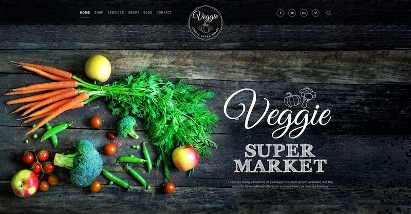 Veggie Super Market - Multipurpose PSD Template