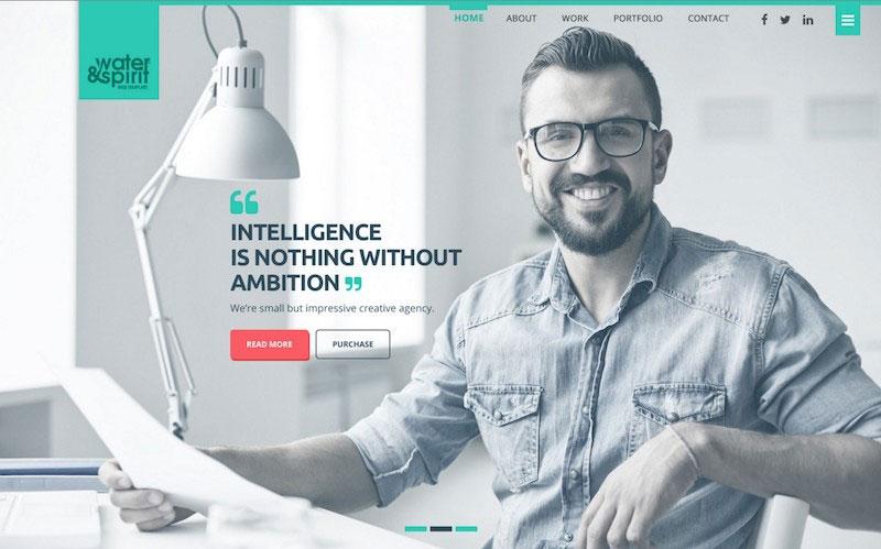 Water&Spirit Multipurpose PSD Website Template