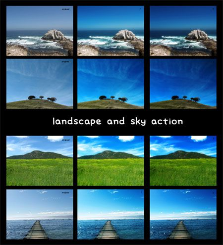 Landscape-sky-action actions to enhance your photos