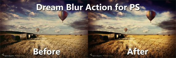 Photoshop-dream-blur-action actions to enhance your photos
