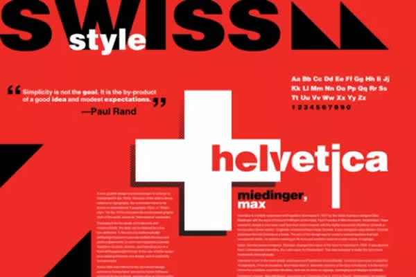 Swiss Graphic Design Fonts