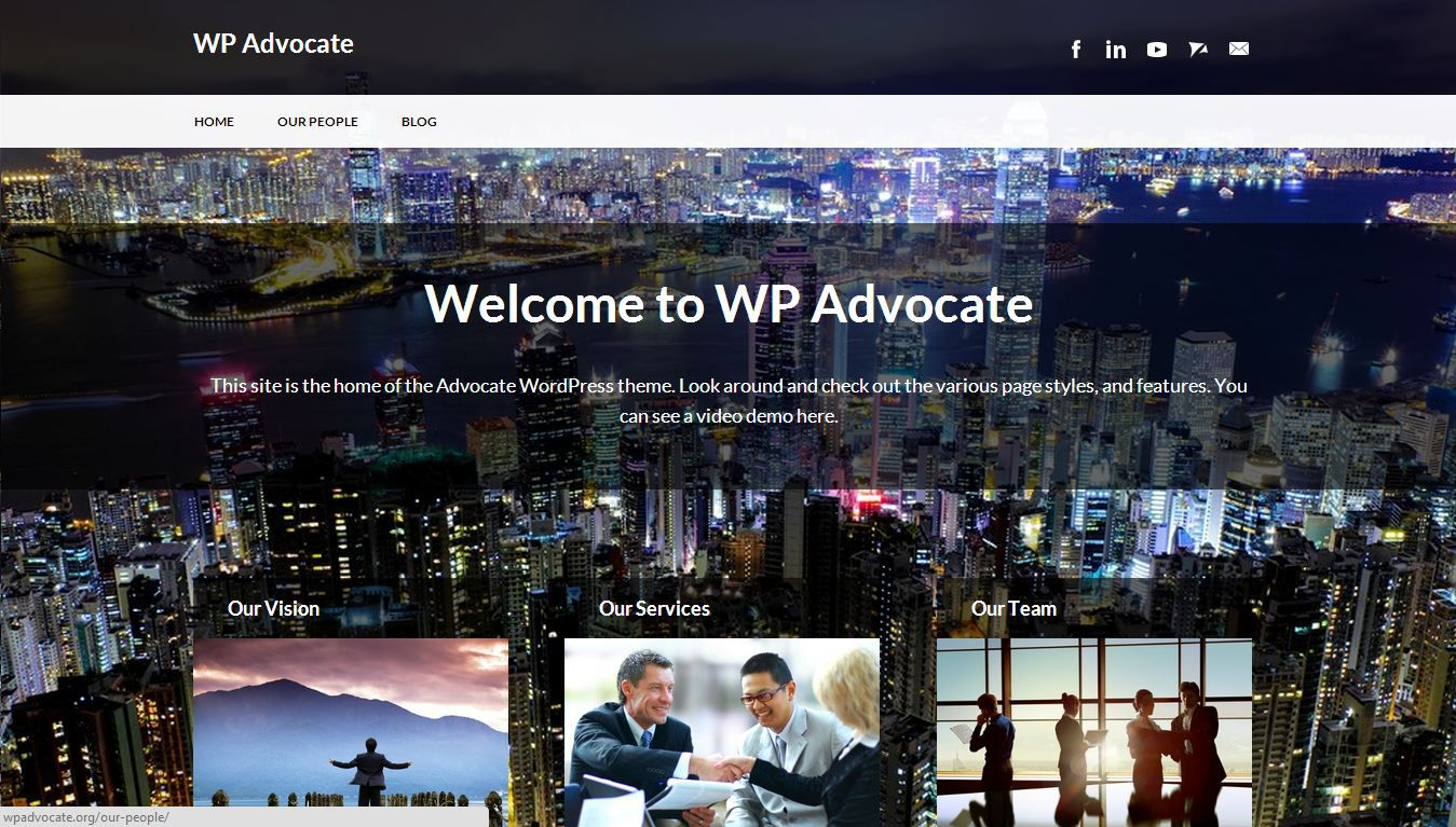 the 50 best wordpress themes advocate is a wordpress theme completely suited for corporate websites it s professional look will surely make law and accounting firms go gaga