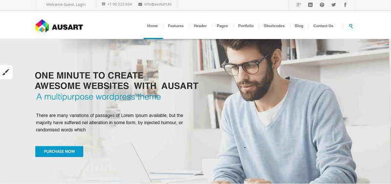 2015_03_09_10_16_51_Ausart_Multipurpose_Business_WordPress_Theme_Just_another_WordPress_site