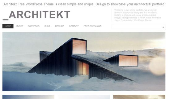 Architekt free wordpress theme