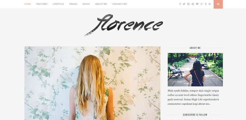 florence wordpress theme