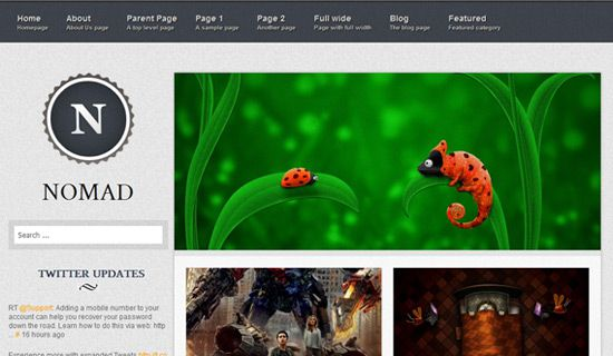 Nomad free wordpress theme
