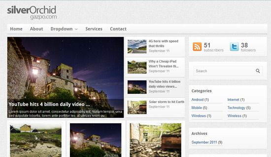 Silverorchid free wordpress theme