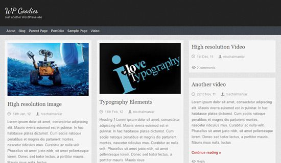 Themolio free wordpress theme
