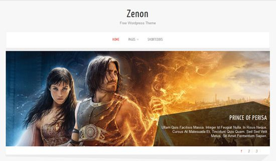 Zenon free wordpress theme