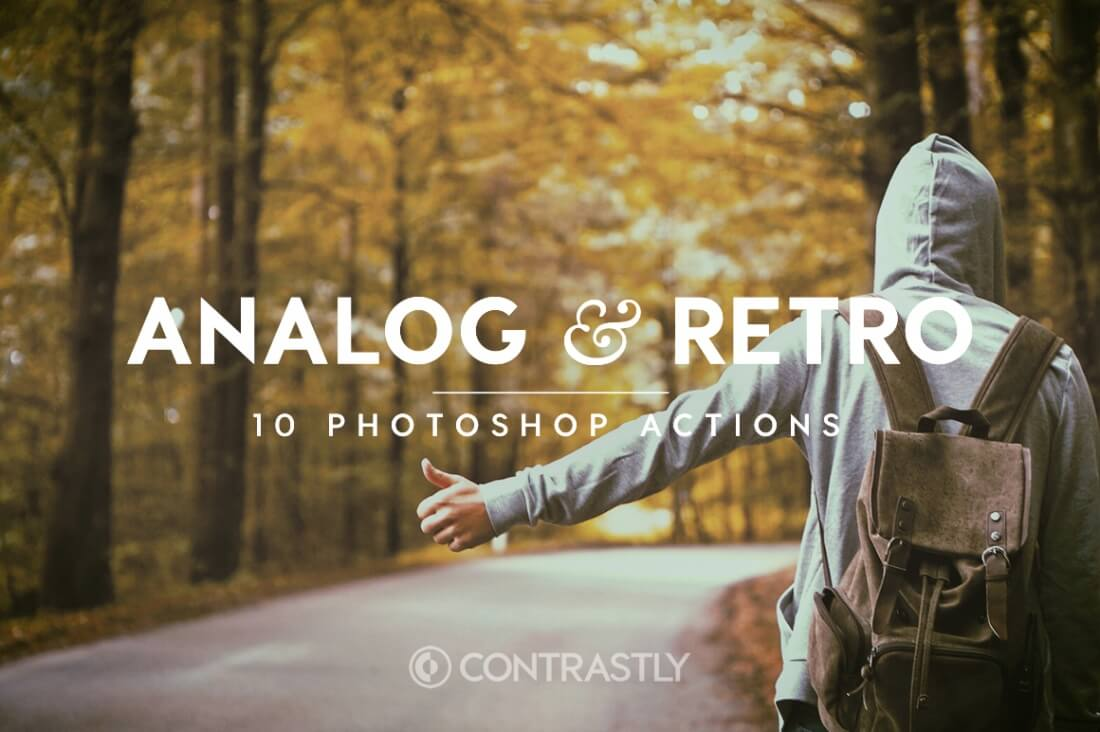 Analog Retro Photoshop Action Bundle Contrastly