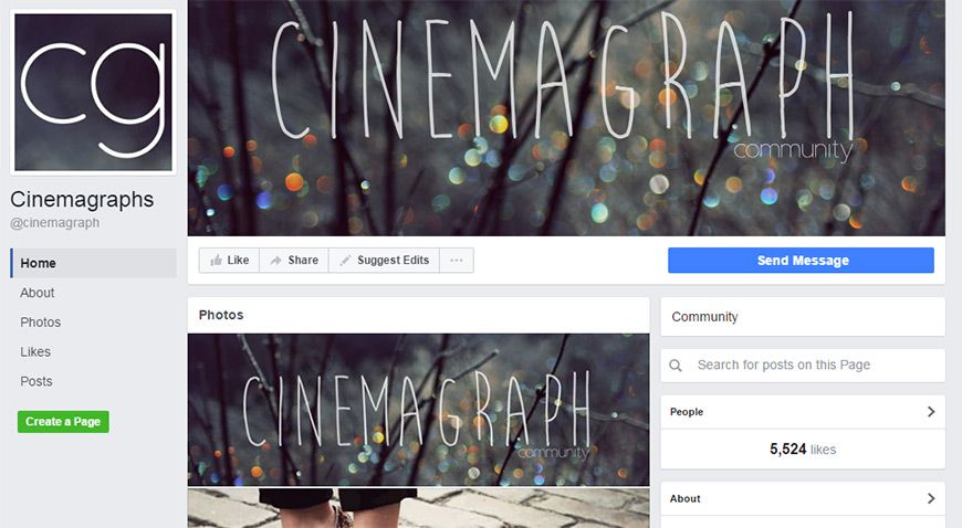 facebook cinemagraph groups