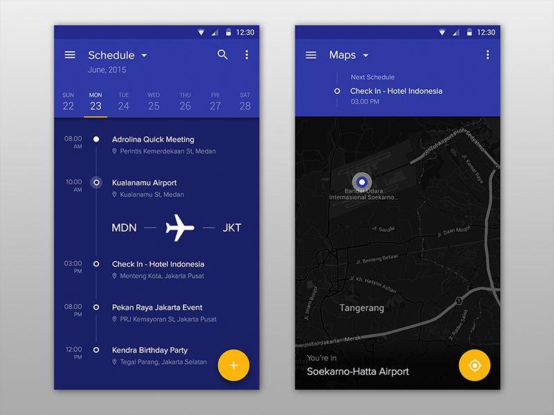 material design Schedule app