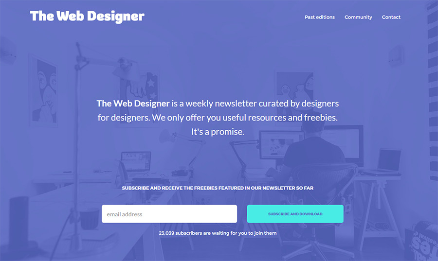 the webdesigner newsletter