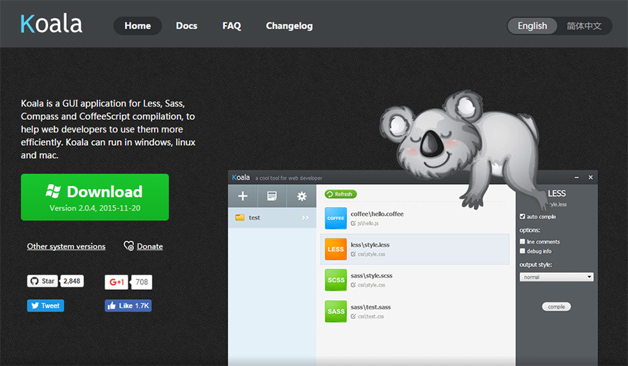 koala scss app