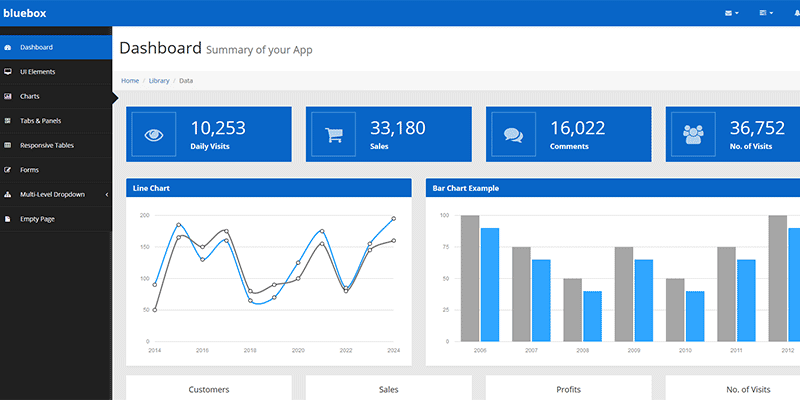 Beautifully Designed Free Bootstrap Dashboard Admin Templates - Simple dashboard html template