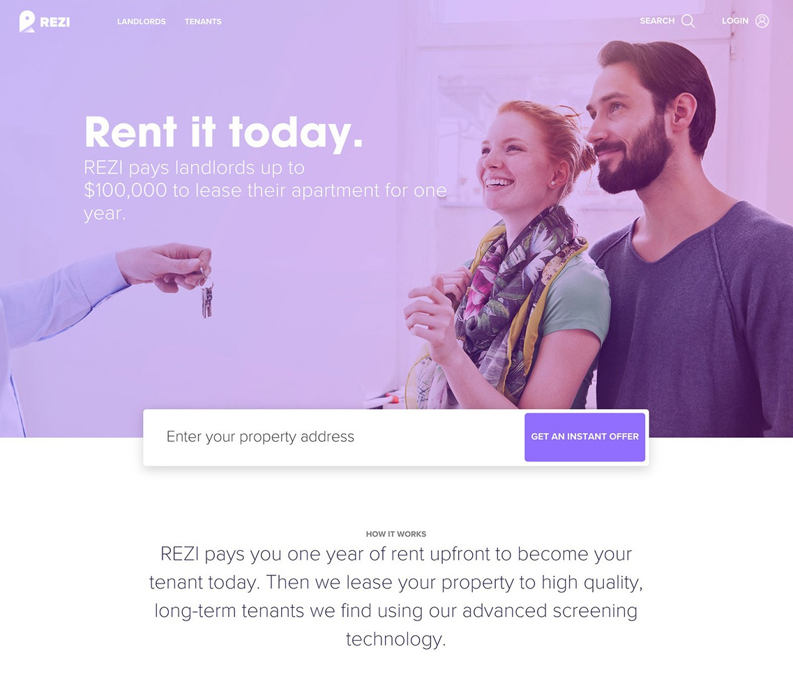 hero design web example landing page Rezi