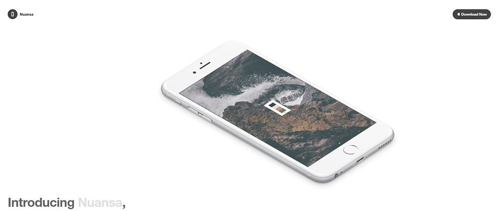 nuansa app homepage