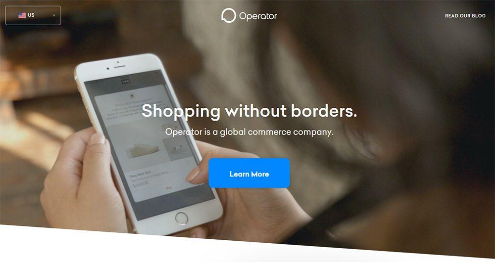 operator app landing page