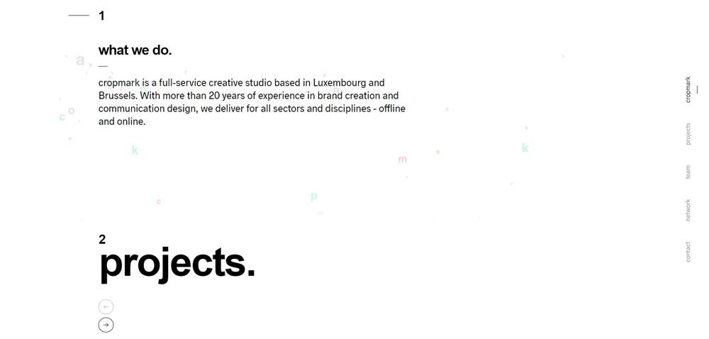minimal web design Cropmark