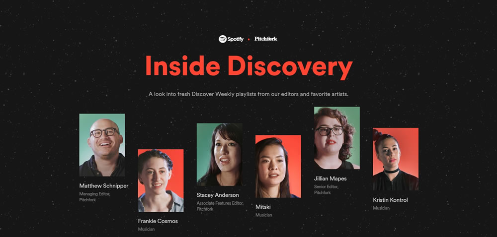 minimal web design Inside Discovery