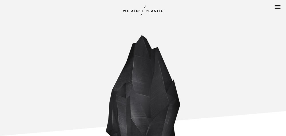 minimal web design We Ain't Plastic